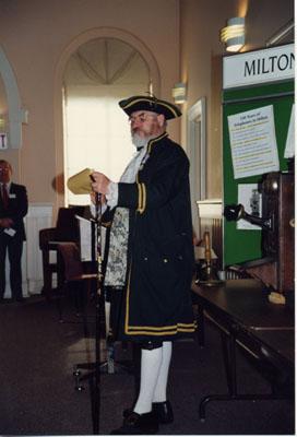 Milton Heritage Awards, 1993.   Town Crier, Ralph Wilding of Tottenham