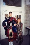 Milton Heritage Awards, February 1996.  Jim Douglas, Jr., and Helen Comber, President of the Milton Historical Society.