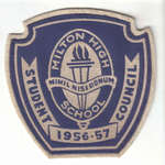 M.H.S.Student Badge, 1956-57