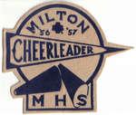 M.H.S. Cheerleader badge, 1956-57