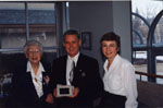 Milton Heritage Awards.  Laura B. Dixon, winner of the 1997 Writing Award, receiving award from Mayor Gordon Krantz.