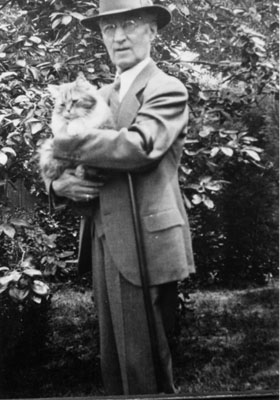 Dr. William Francis Freeman with cat.