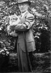 Dr. William Francis Freeman with cat.