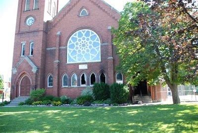 Exterior of St. Paul's United Church, Milton, Ontario