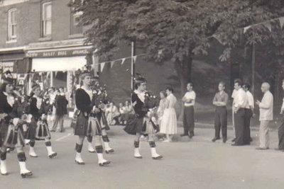 Pipe Band on Main Street, Milton, Ontario
