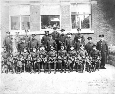 N.C.O. Class and Officers.  164 Battalion, Milton, Ont.
