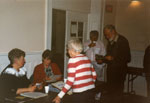 Milton Historical Society Meeting. 1990.  Marjory Powys and Brenda Whitlock.