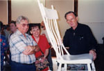 Milton Historical Society Antiques Road Show.  September 1998. Don Colling with visitors.