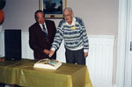 Milton Historical Society Meeting.  October 1997. Jim Dills and Alex Cooke.