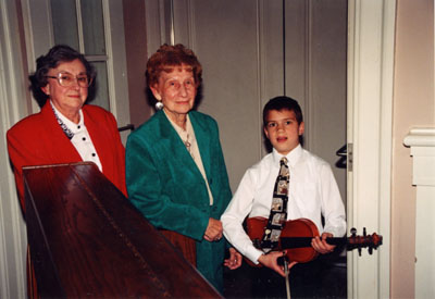 Milton Historical Society Meeting.  April 1997. Jean Somerville, June Durrant and Alex Frank.