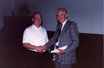 Milton Historical Society Meeting. June 1992.  Walt Elliot with Mac Sprowl.