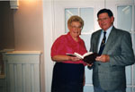 Milton Historical Society Meeting.  November 1994. David MacLachlan and Marjorie Powys.