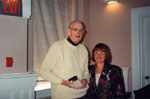 Milton Heritage Awards.  Alex Cooke, winner of the 1995 Award for Writing, with Helen Comber.