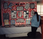 Milton Heritage Awards, 1997.  St. Peter's School display of the 1996 Award for Eduction.