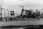 Demolition of Bonin's gas station. Milton.
