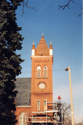 St. Paul's United Church; new copper roof