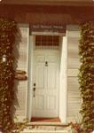 Front door of home of Jim and Marg Allsop, Nassagaweya Township.