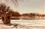 Mill Pond in winter.  Milton, Ontario