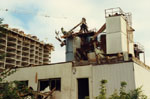 The Mill being demolished.  1990.