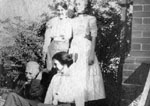 Family group of three women and a man