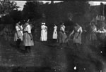Ladies dancing on the lawn