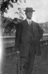 Man posed in garden