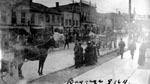 164th Battalion.  Baggage wagons on Main Street