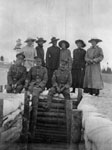 Soldiers and friends at Camp Borden, September 1916.