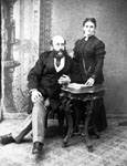 Walter H. Lindsay and wife.  Dry goods merchant, municipal politician.   1843-1904