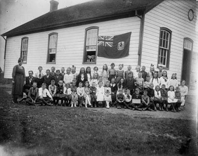 Ligny School, students and teacher
