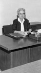 Margaret Maxted.   Treasurer of Halton County.   Born 1903.  Died 1986.