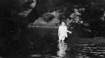 "Jane Clendenning in ""Rose-Hill"" Creek"