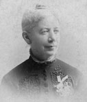 Sarah Bowes, teacher, deaconess, missionary.  b.1834, d.1911