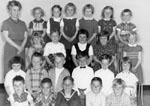 Kindergarten class photograph.  P.M. class, 1962-63