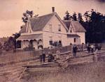 Family home of P. L. Robertson, Seneca, Haldimand County, 1880.
