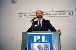 """Bruce Carlin at launch of book """"P. L. Inventor of the Robertson Screw"""""""
