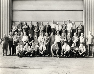 P. L. Robertson employees recognized for 25 & 40 years of service.  1969.