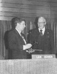 Len Auger.  Chairman of the Halton Public School Board