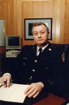 Peter Campbell.  Halton Police Chief