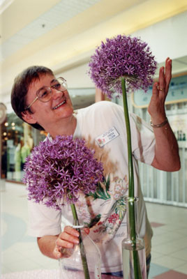 Freda Flook with allium