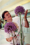 Freda Flook with allium