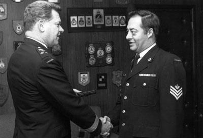 Sergeant J. W. Messervey, Military