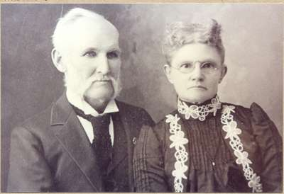 Drusilla Bowbeer and her husband, Wm. Clements