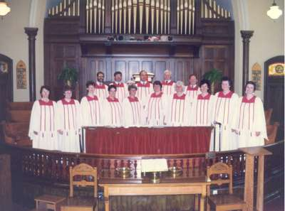 Choir at Knox Presbyterian Church, Milton, Ontario