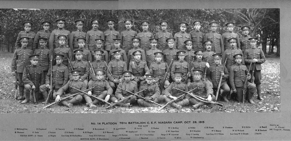 No. 14 Platoon 76th Battalion C.E.F. Niagara Camp