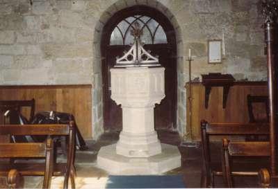 Baptismal font, Seamer, Yorkshire, England