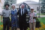 Members of the Milton Historical Society and Mayor Gordon Krantz at Victoria Park