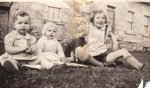 Betty, Helen and Ruth Peddie at the Farm