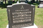 Grave marker for the Armstrong family