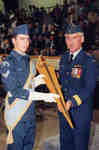 Cadet Matthew Sloski and General Jeff Brace (retired)